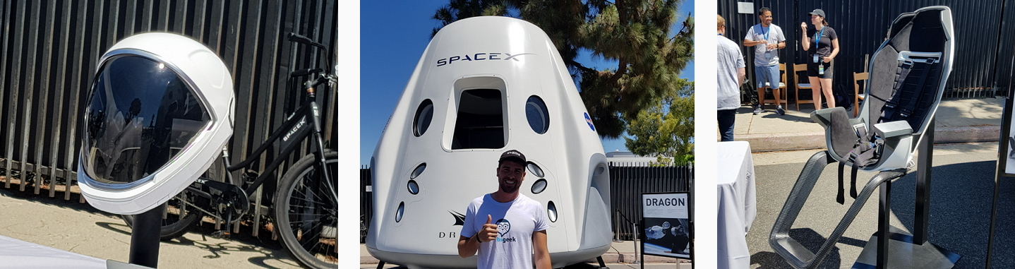 casco dragon seat spacex